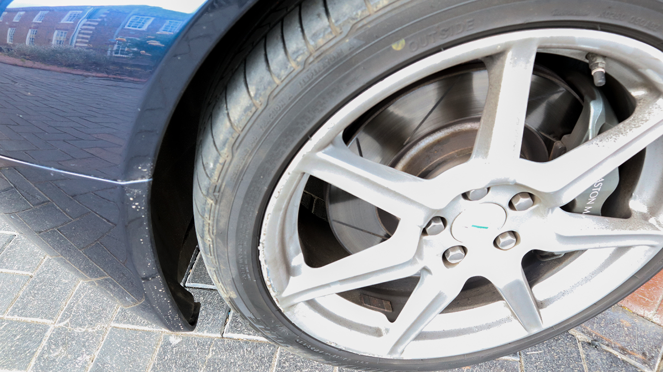Scuffed alloy wheels
