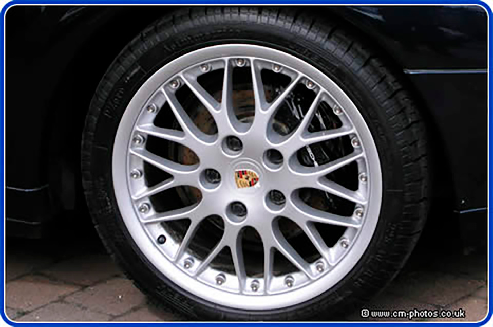 Refurbished Porsche Split Rim Wheels.