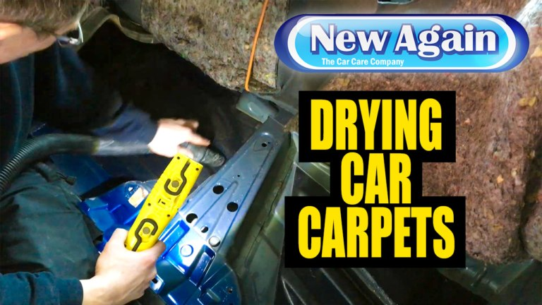 How to dry carpets in a wet car