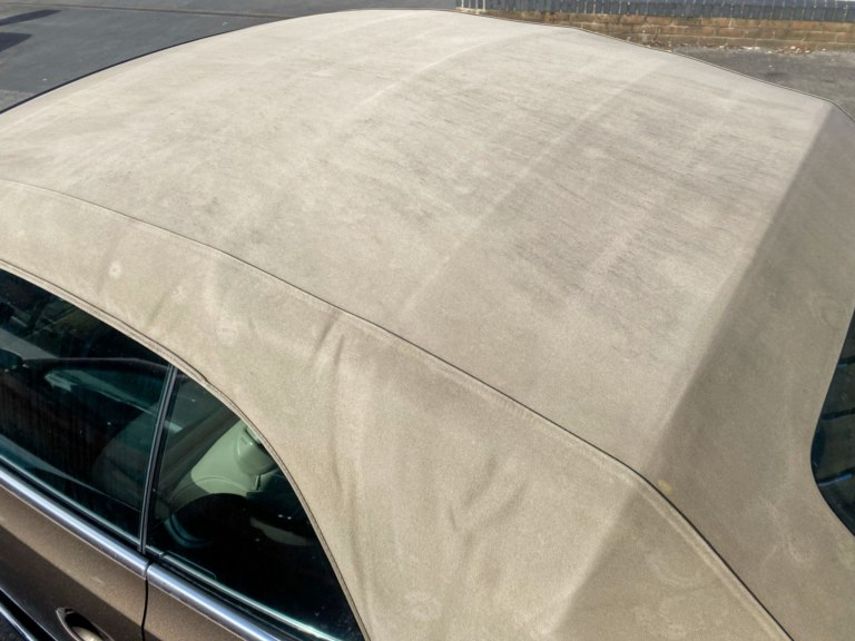 Volkswagen Beetle convertible dirty roof