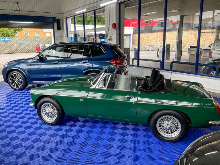 MG Roadster in our workshop